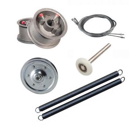 Garage Doors Cable Drums and Cables, Pullies, Roller Balls and Tension Springs